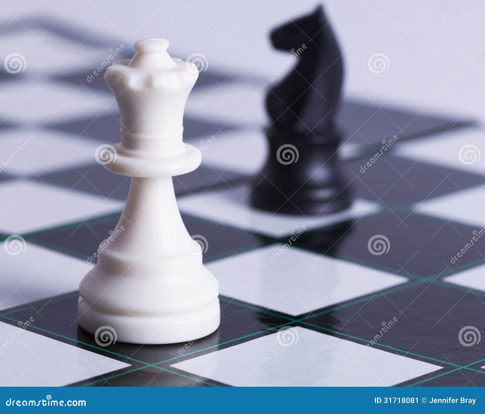 Gage blanc et chevalier noir sur l échiquier