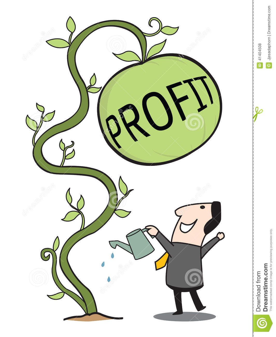 Gain Profit Stock Vector Image 41404508