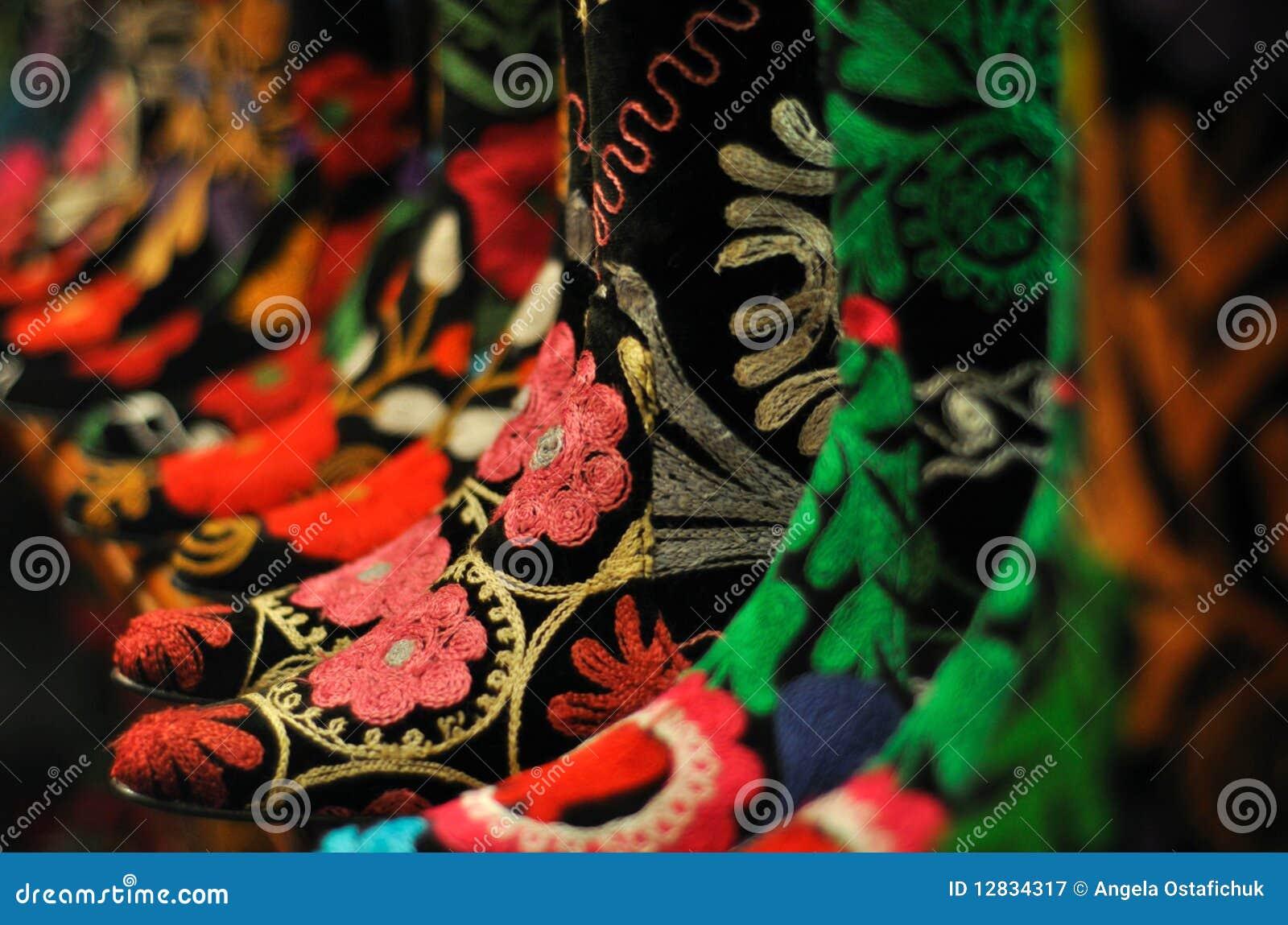 Gaines de feutre de turc avec les configurations multicolores
