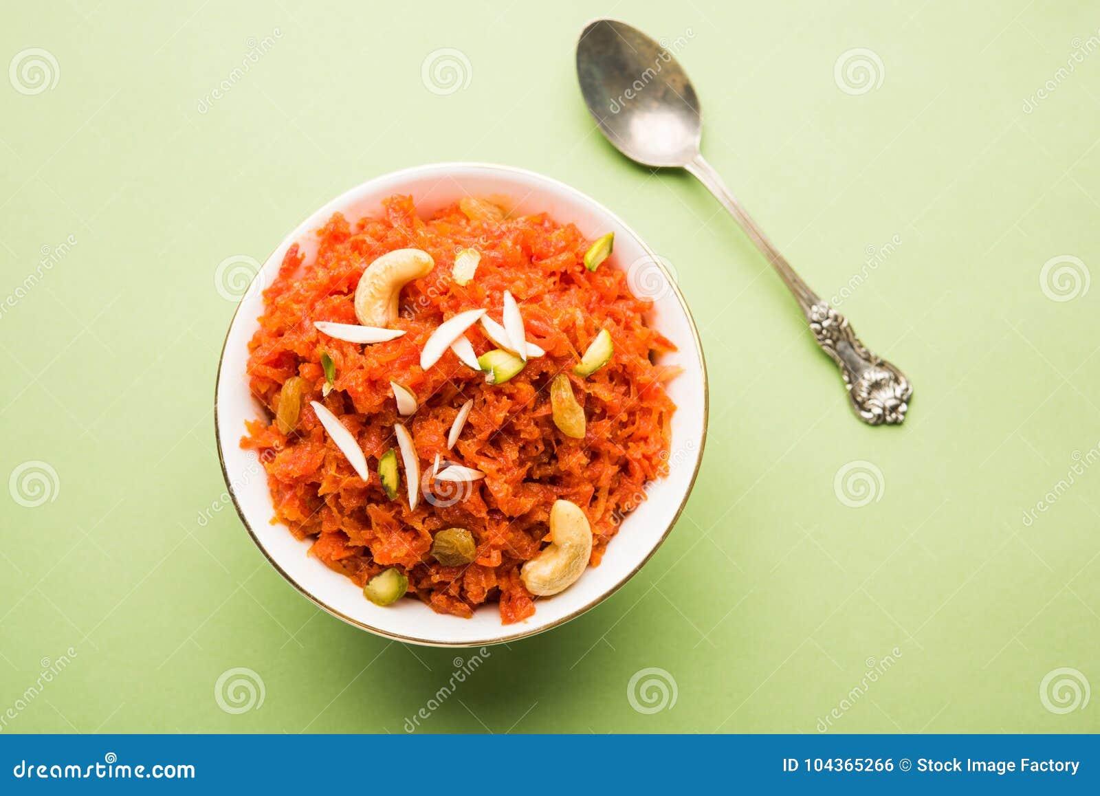 Gajar Halwa ou cenoura Halwa