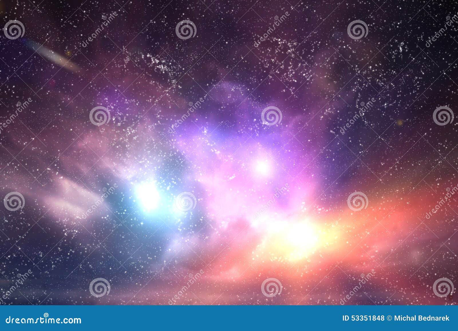 Galáxia, céu do espaço Estrelas, luzes, fundo da fantasia