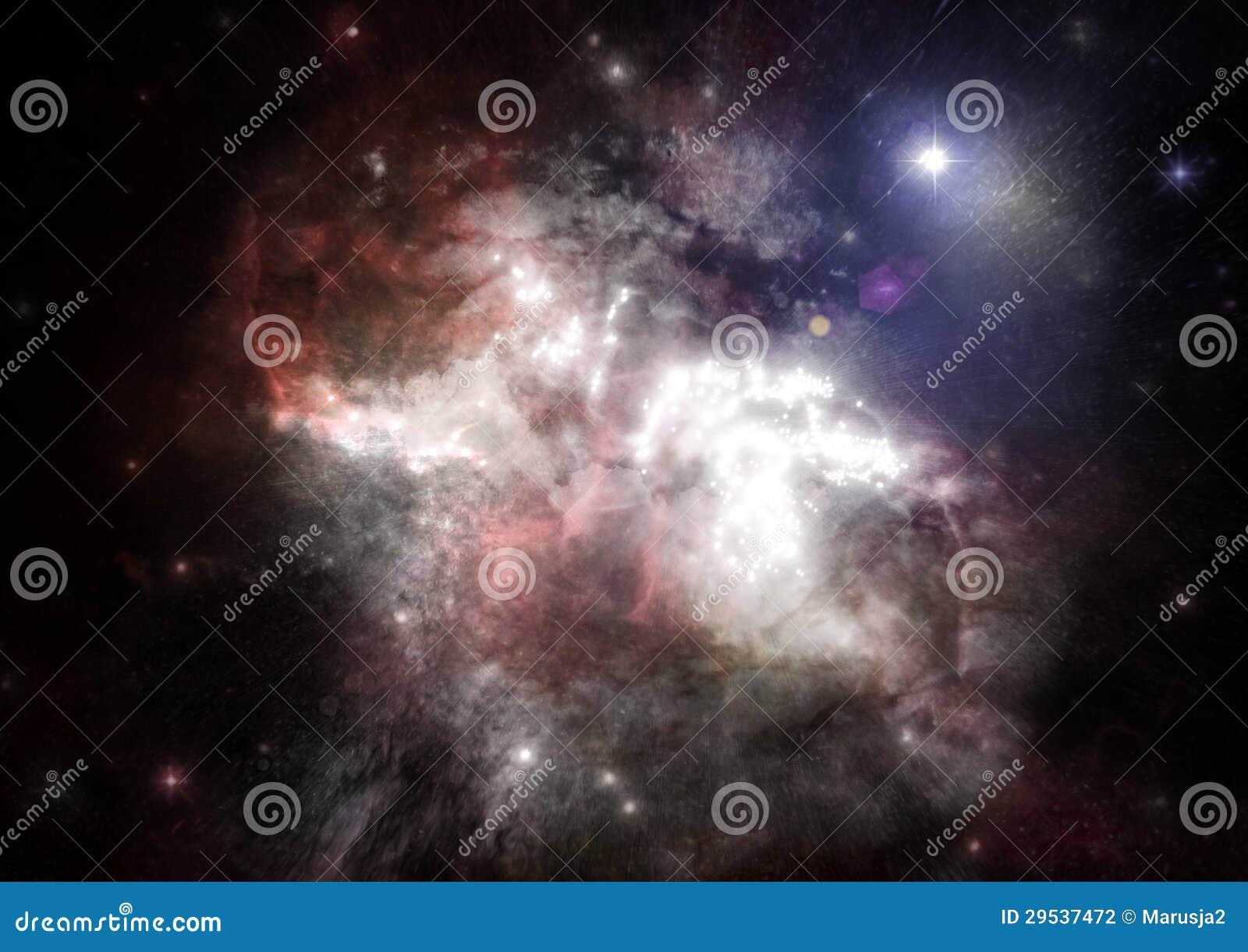 Galáxia em um espaço livre