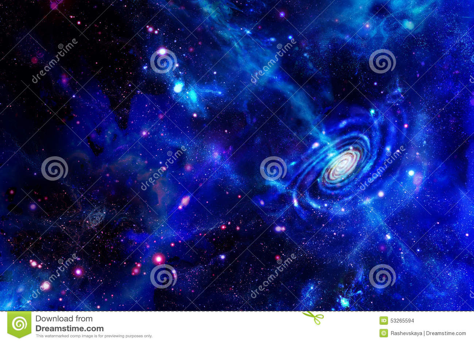 Galáxia-emitindo-se a substância e nuvens moleculars