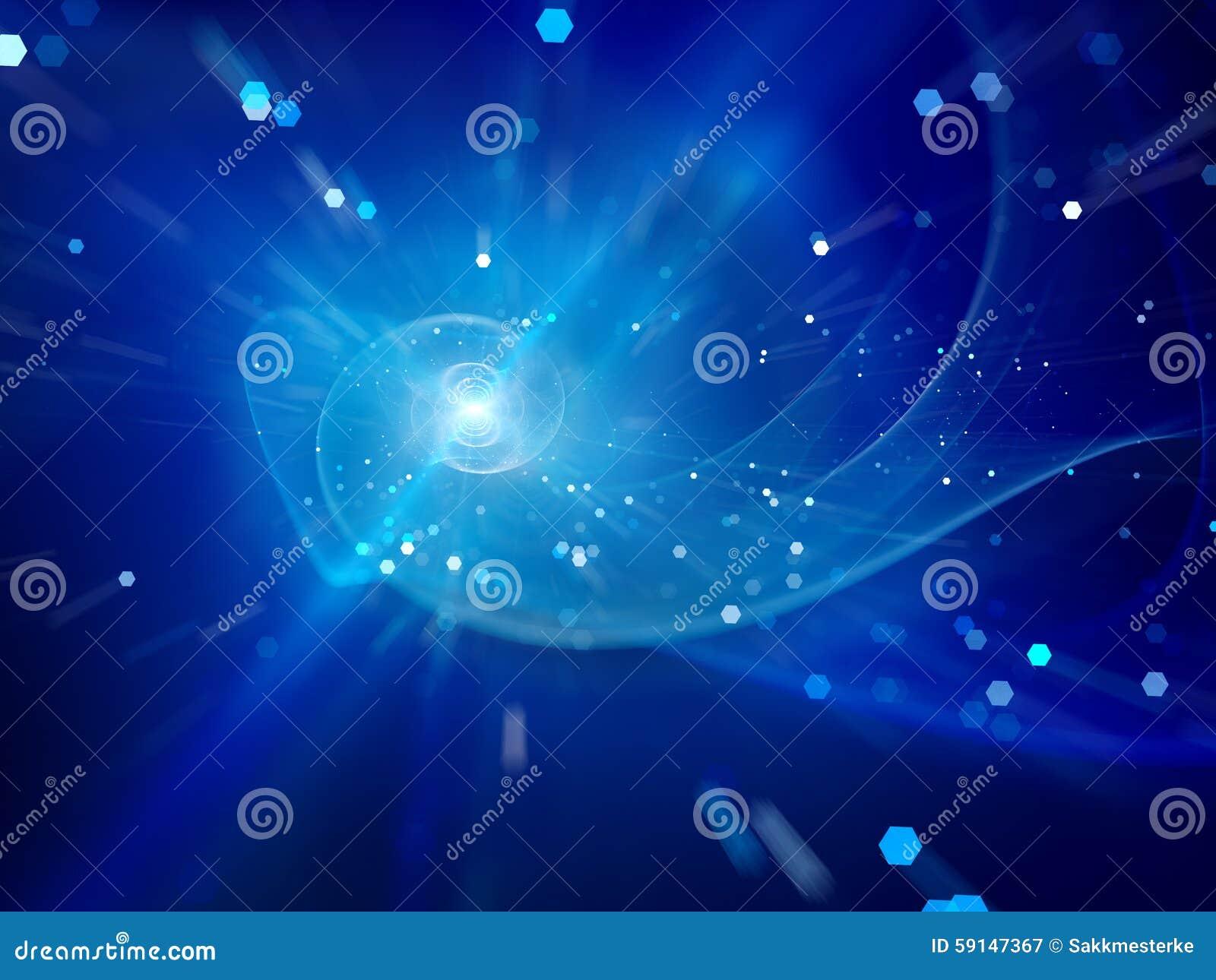 Galáxia espiral azul no espaço