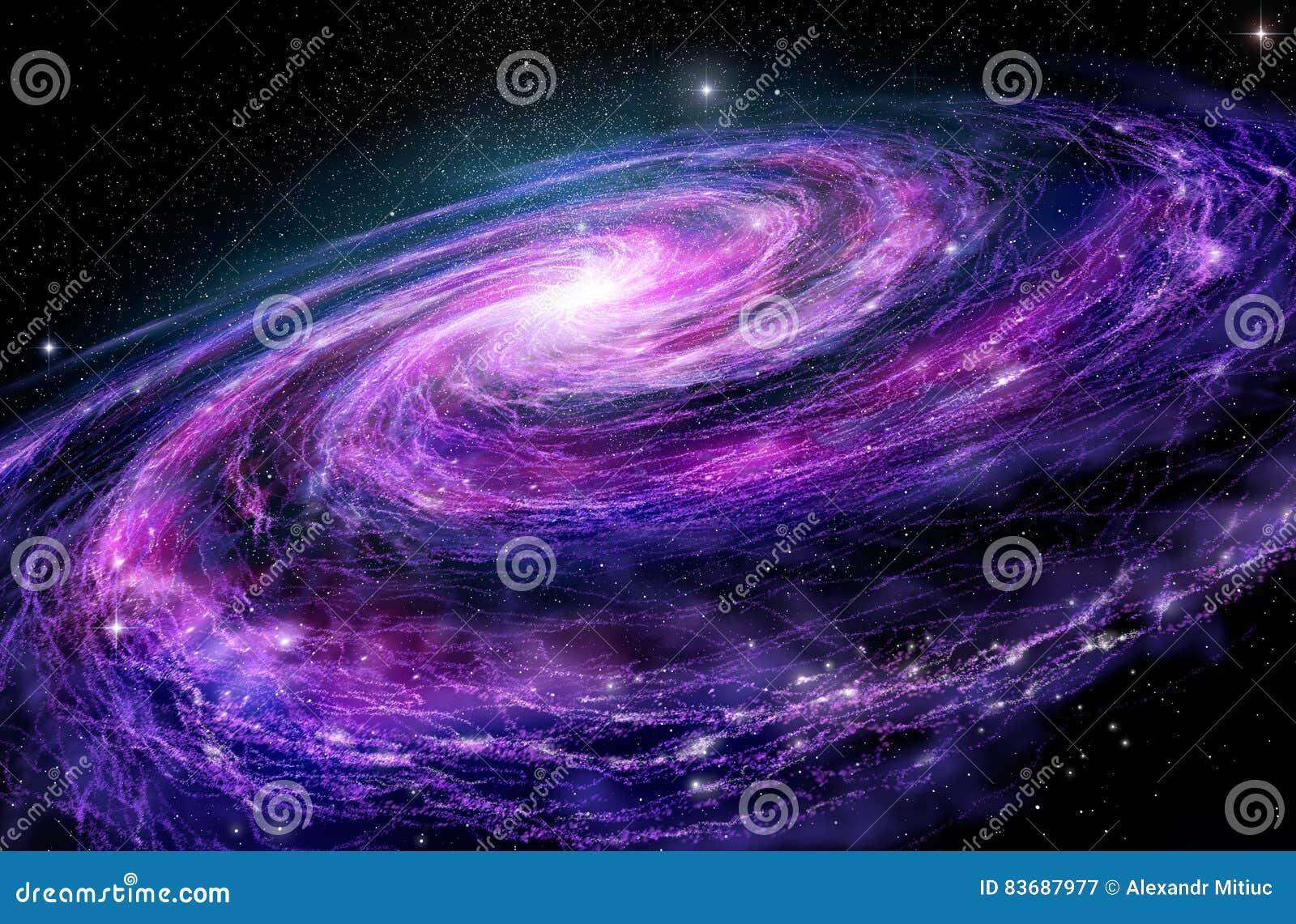 Ilustração Gratis Espaço Todos Os Universo Cosmos: Galáxia Espiral, Ilustração 3D Do Espaço Profundo