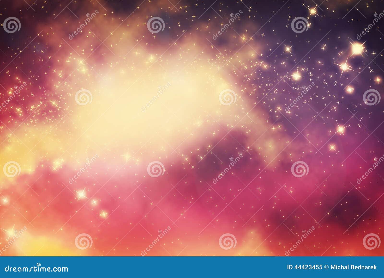 Galaktyka z gwiazdami i fantazja wszechświatu przestrzenią