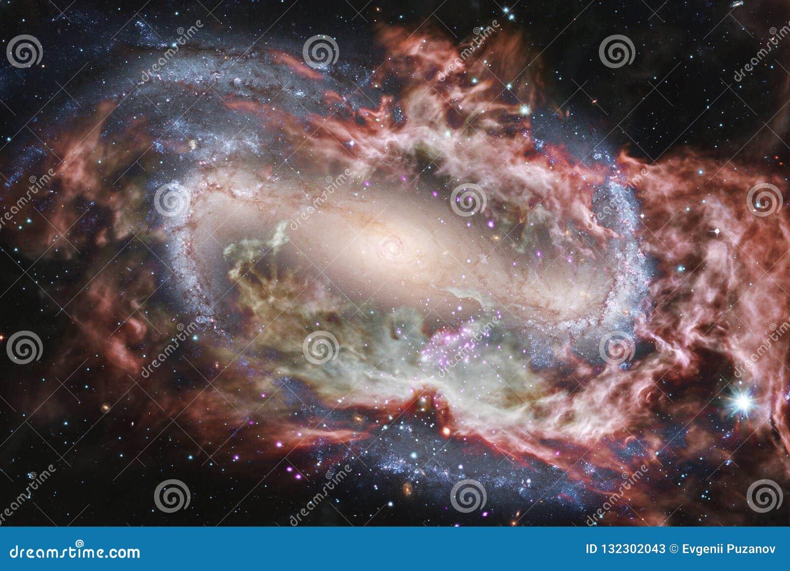 Galassia d ardore, carta da parati impressionante della fantascienza