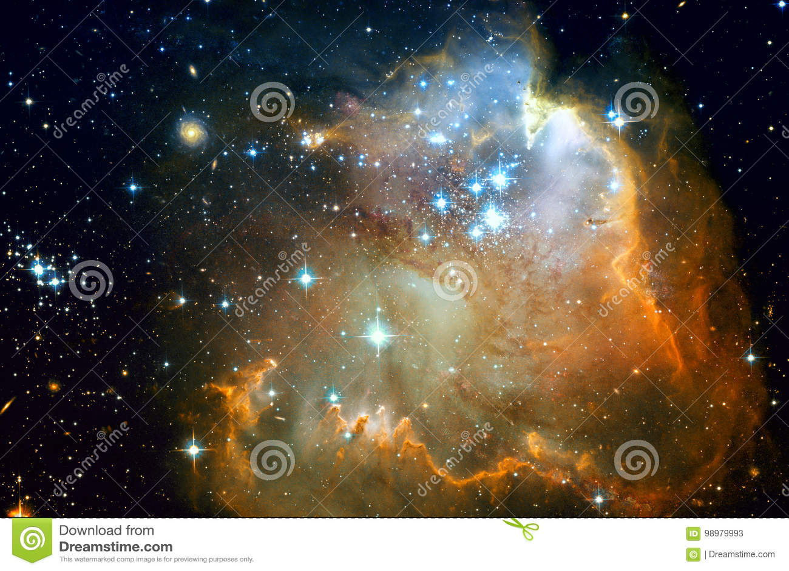 Galassia e nebulose nello spazio cosmico Elementi di questa immagine ammobiliati dalla NASA