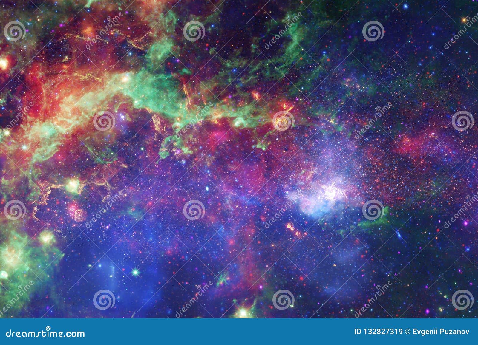 Galassia impressionante nello spazio cosmico Starfields di universo senza fine