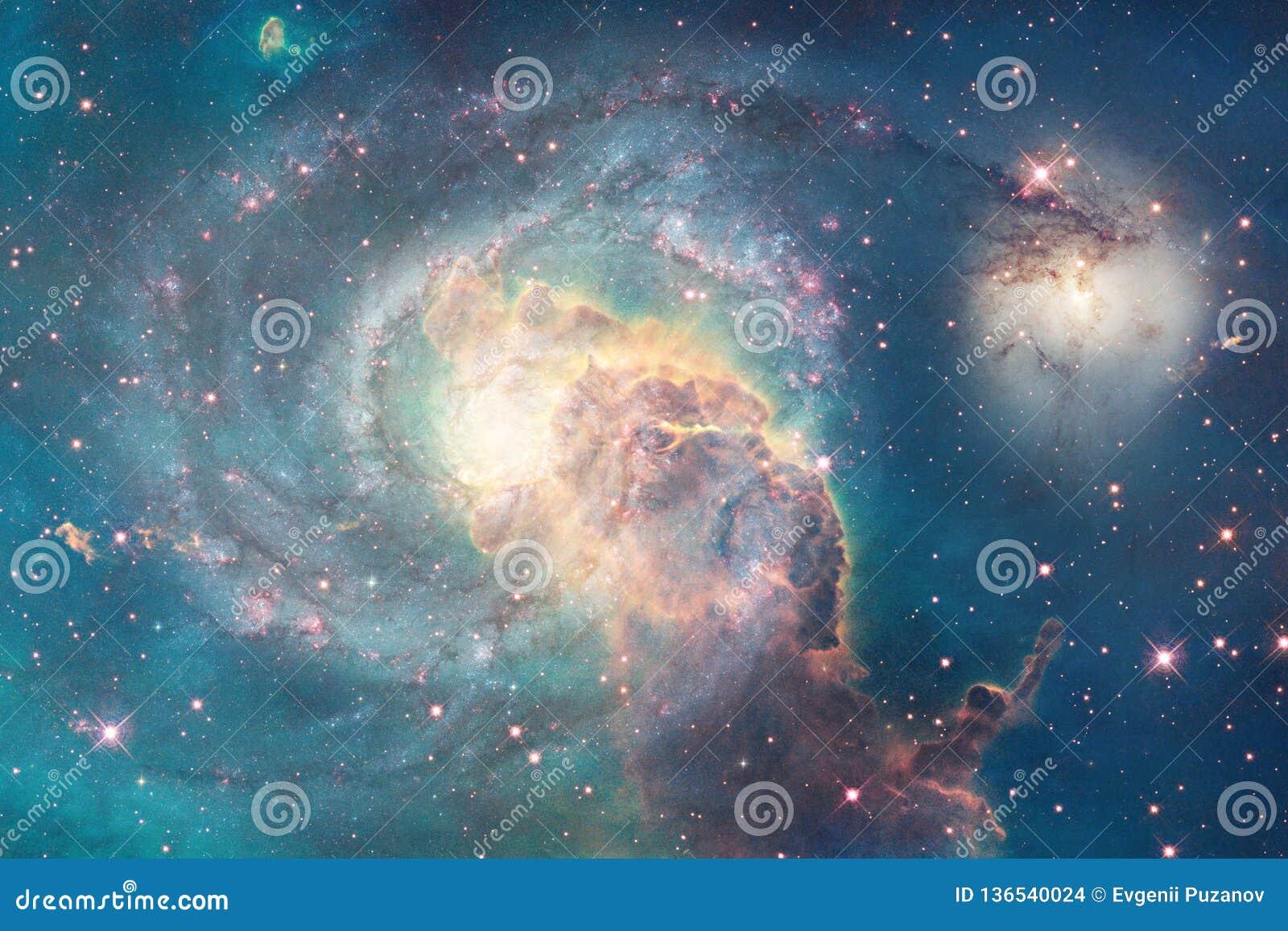 Galassia incredibilmente bella da qualche parte nello spazio profondo Carta da parati della fantascienza