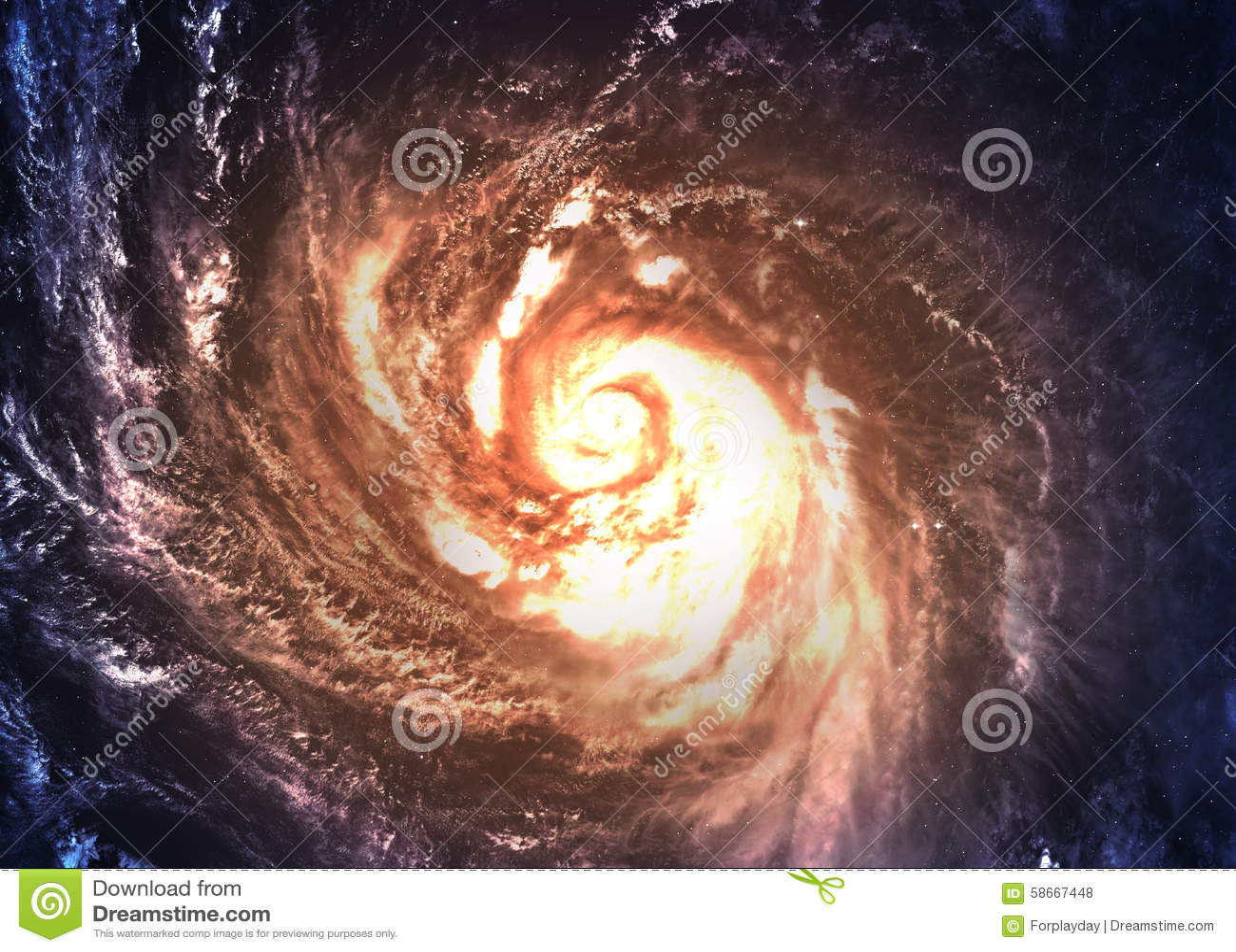 Galassia a spirale incredibilmente bella da qualche parte dentro