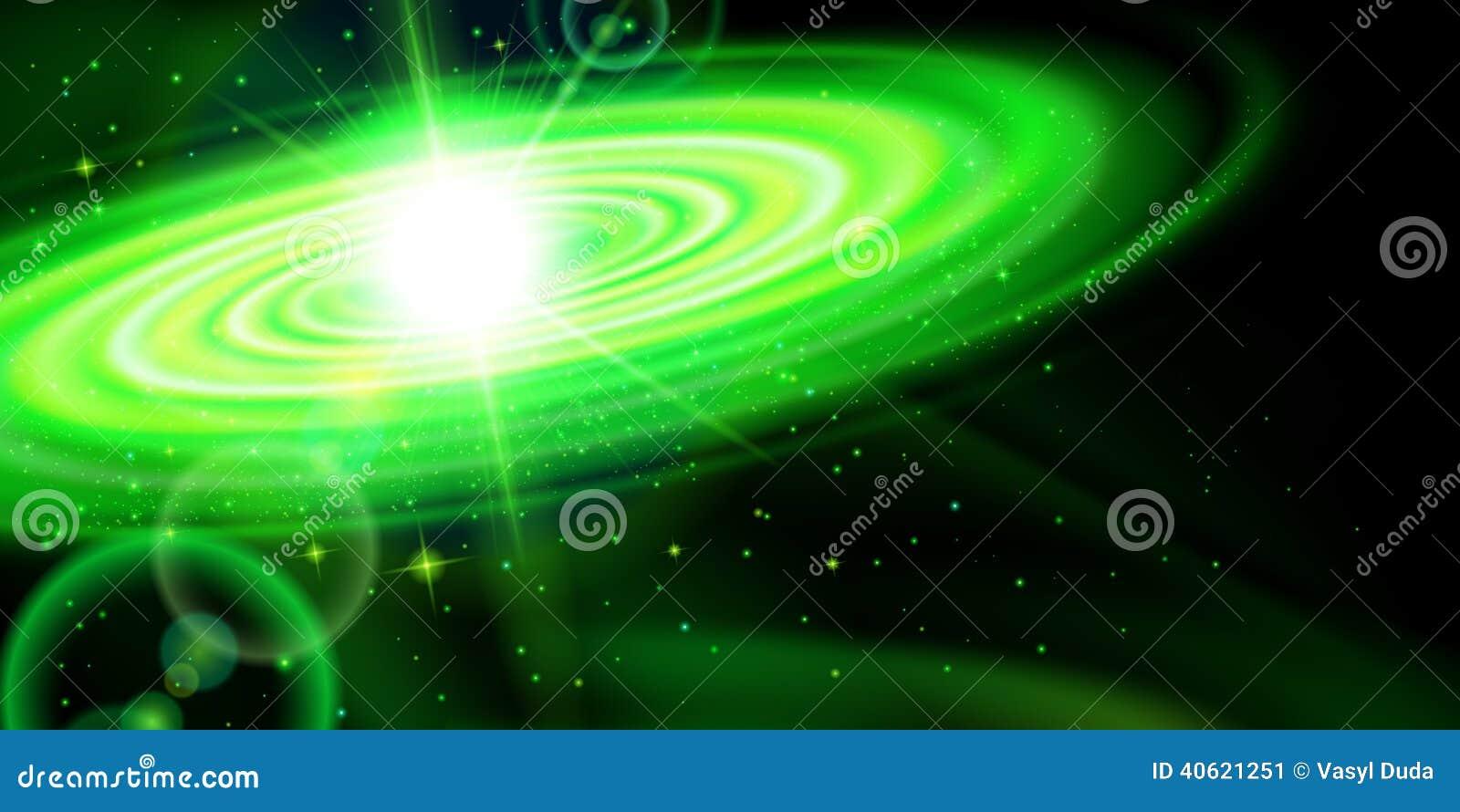 Galassia Verde Illustrazione Vettoriale Illustrazione Di Background