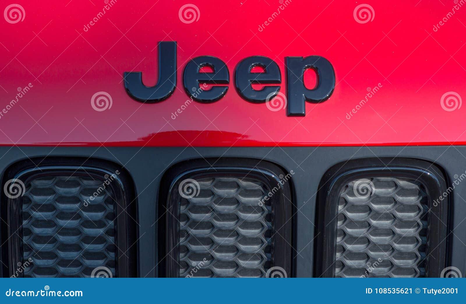 GALATI RUMUNIA, WRZESIEŃ, - 2, 2017: Dżip jest gatunkiem Amerykańscy samochody które produkują wyłącznie sportów pojazdy użytkowi
