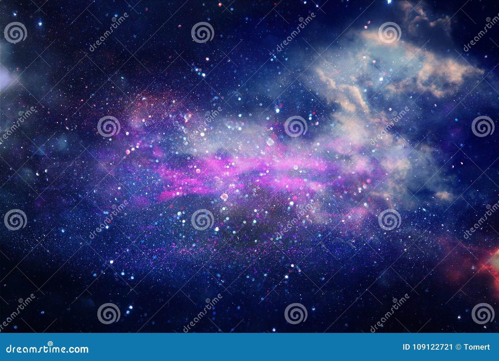 Galax och nebula Stjärnklar yttre rymdbakgrundstextur