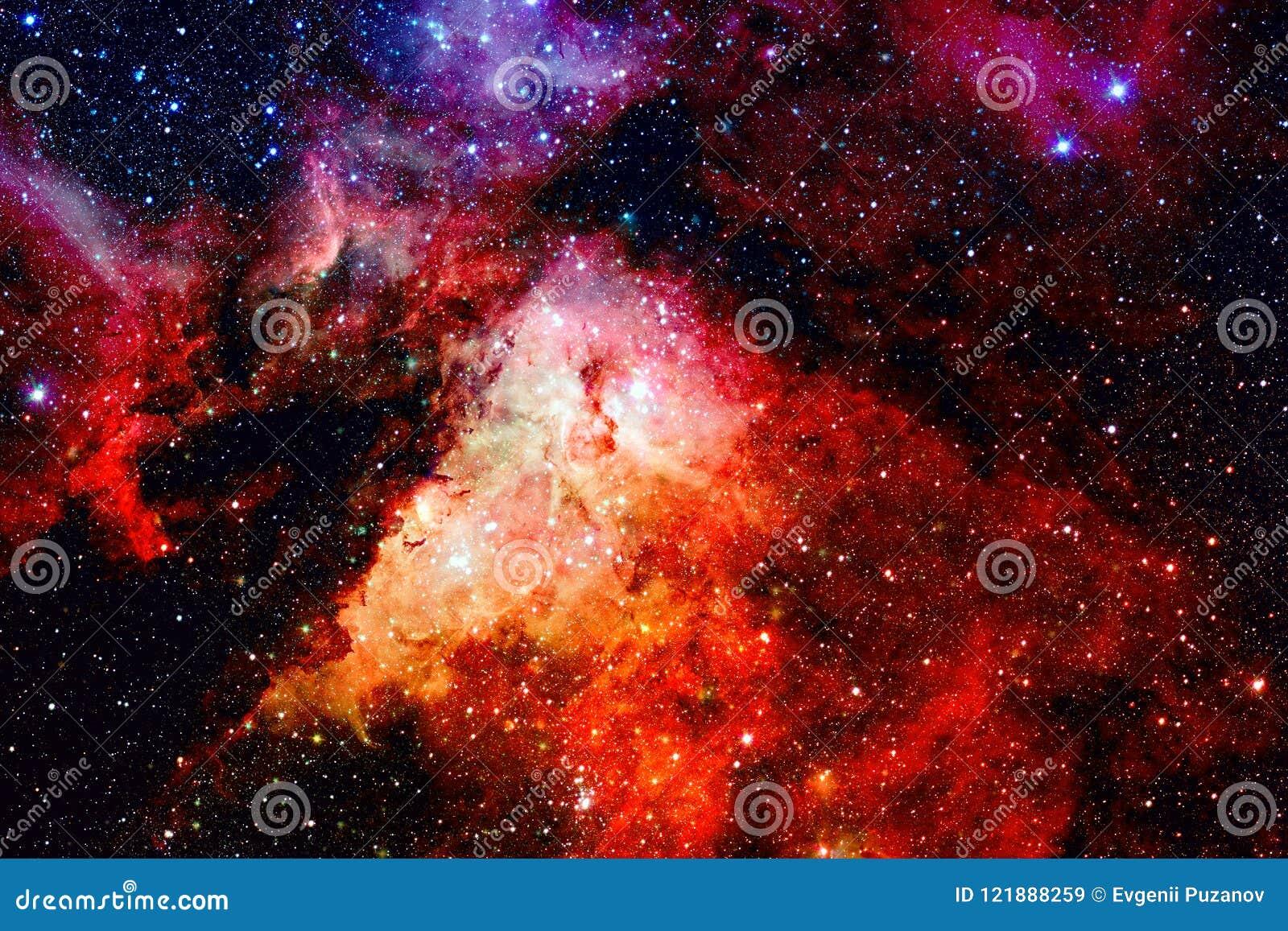 Galax och nebulosa i utrymme Beståndsdelar av denna avbildar möblerat av NASA