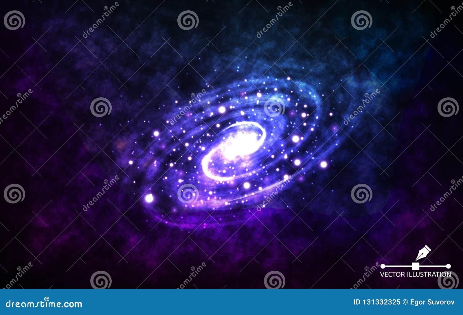 Galaxia espiral en fondo del espacio Galaxia abstracta realista con la nebulosa del color Contexto cósmico con el stardust y