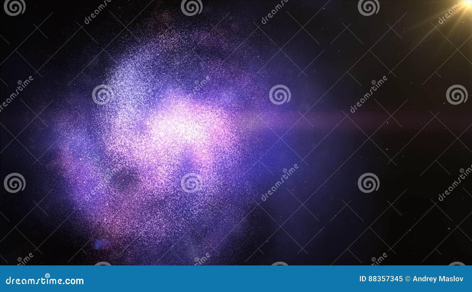 Galaxia espiral torcida en espacio Protagoniza el calabozo del cosmos