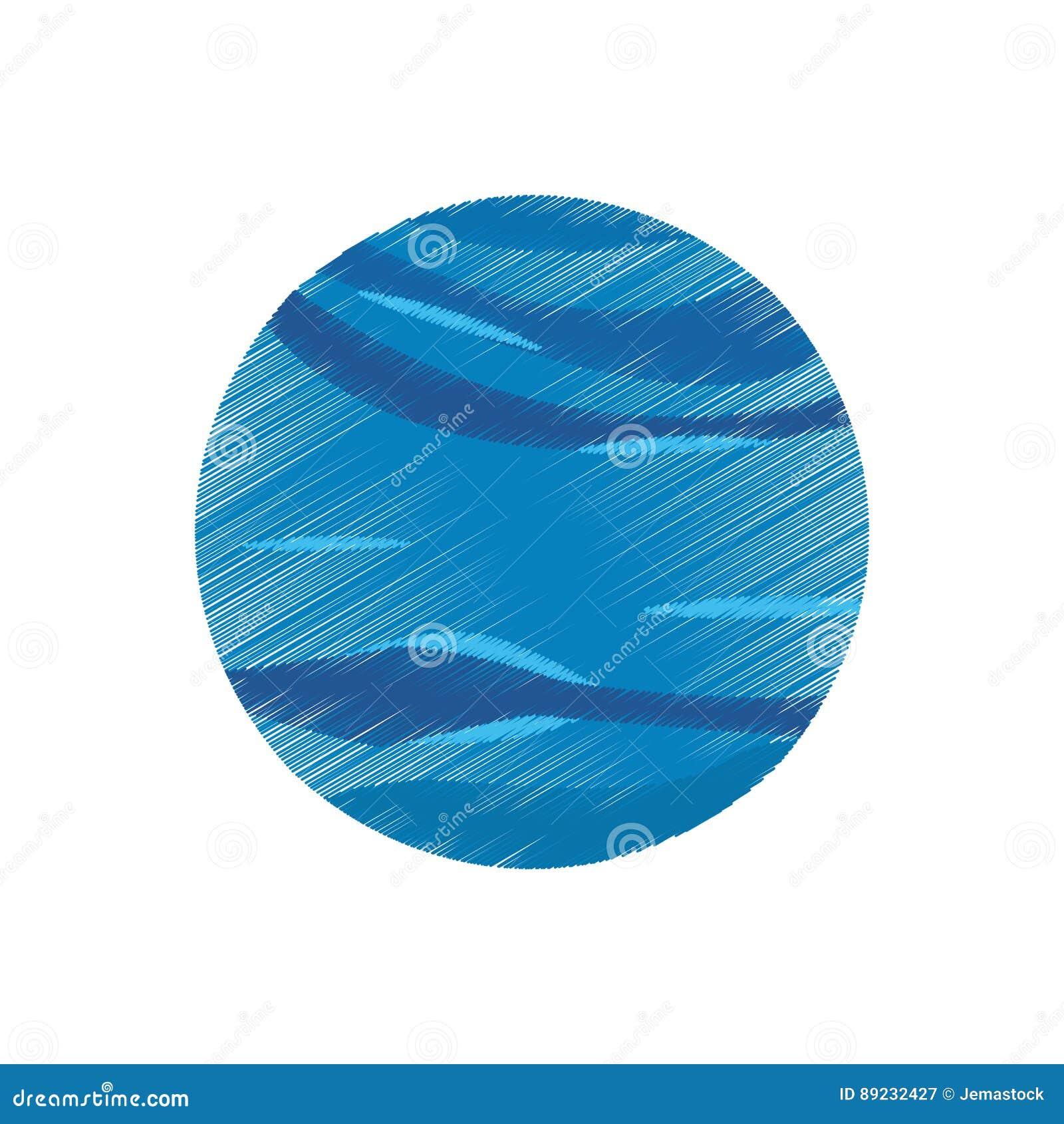 Galaxie D Univers De Planete De Neptune De Dessin Illustration Stock