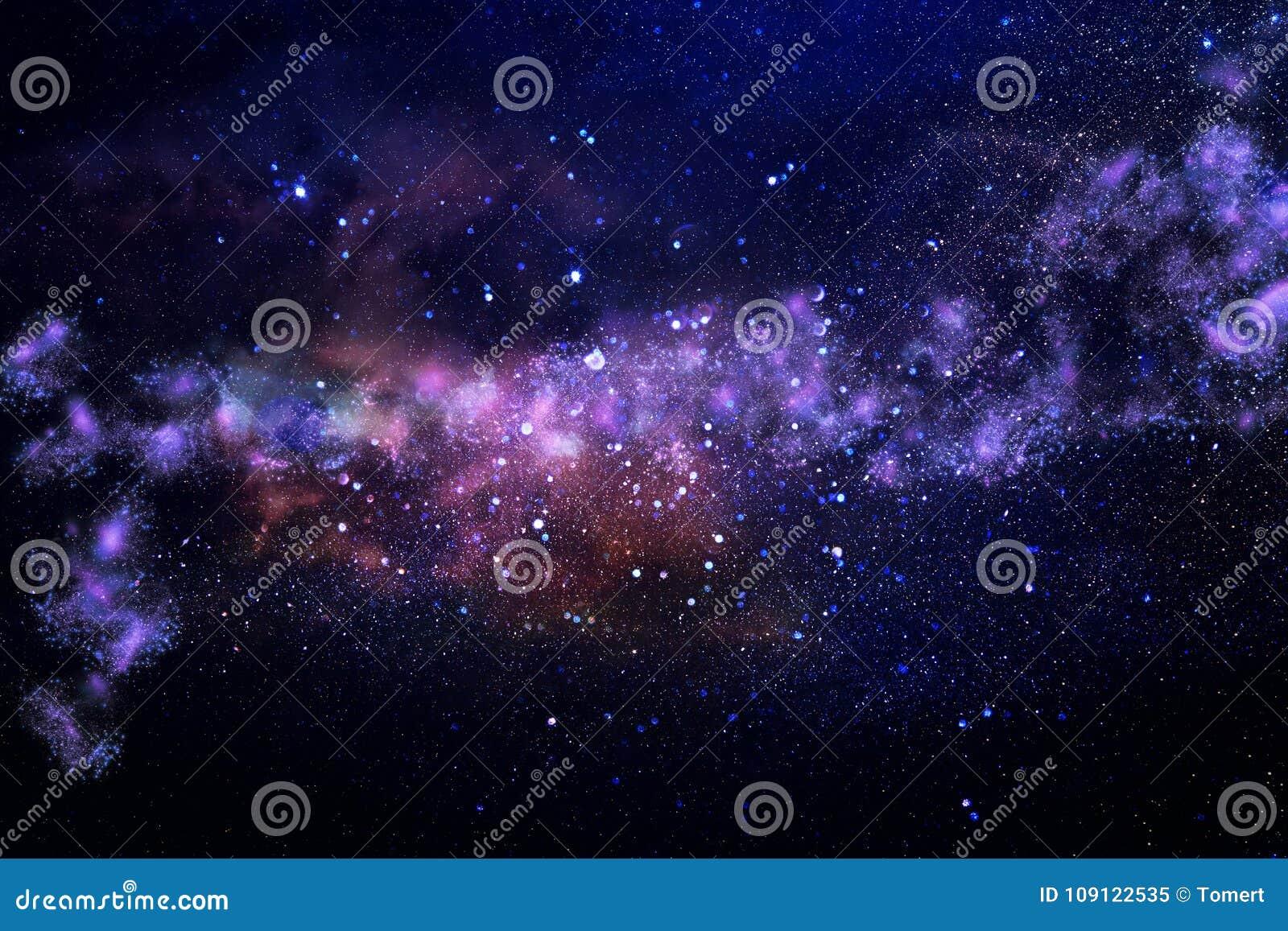 Galaxie et nébuleuse Texture étoilée de fond d espace extra-atmosphérique