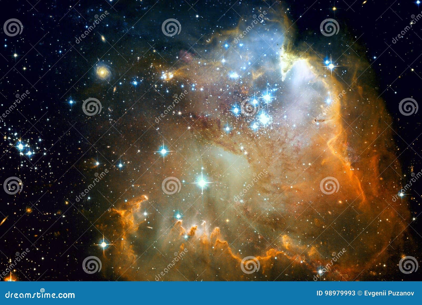 Galaxie et nébuleuses dans l espace extra-atmosphérique Éléments de cette image meublés par la NASA
