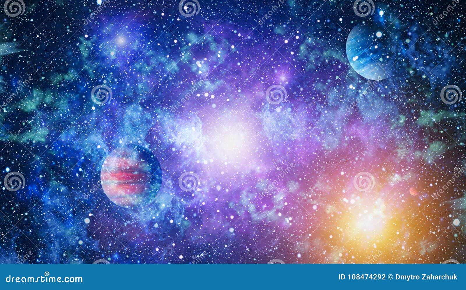Galaxie und Nebelfleck Abstrakter Platzhintergrund Elemente dieses Bildes geliefert von der NASA