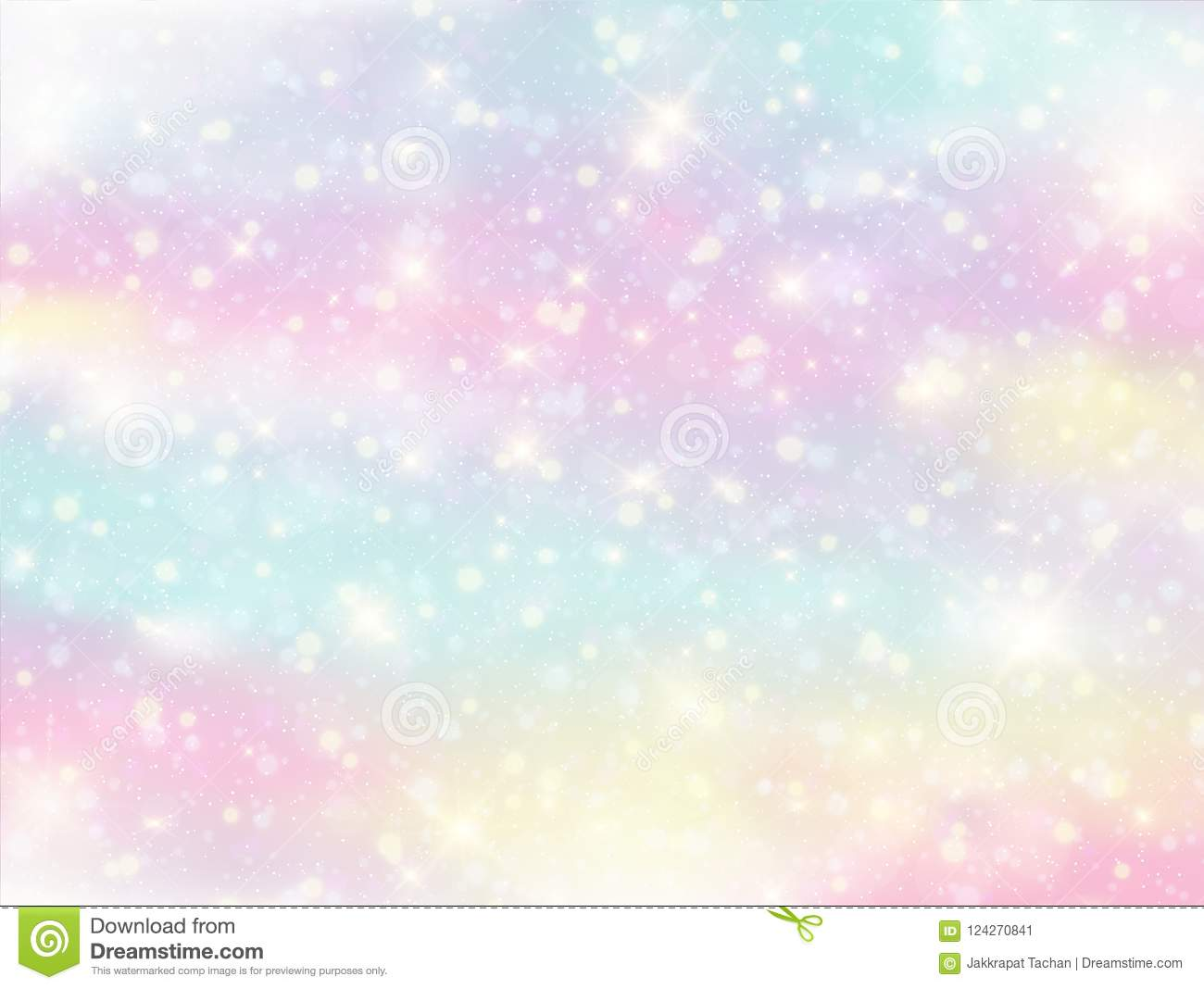 Galaxy Fantasy Background And Pastel Color. Stock ...
