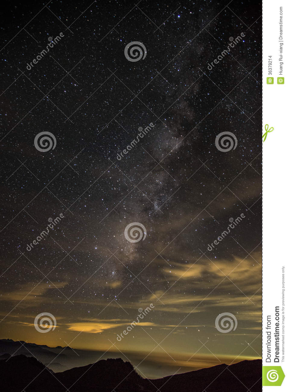 Galaxy In Hehuanshan Forest Recreation Area Stock Images