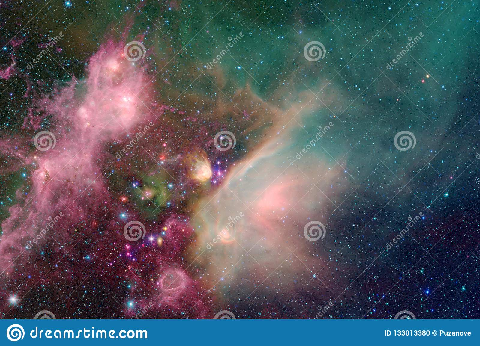 Galaxy in outer space, beauty of universe