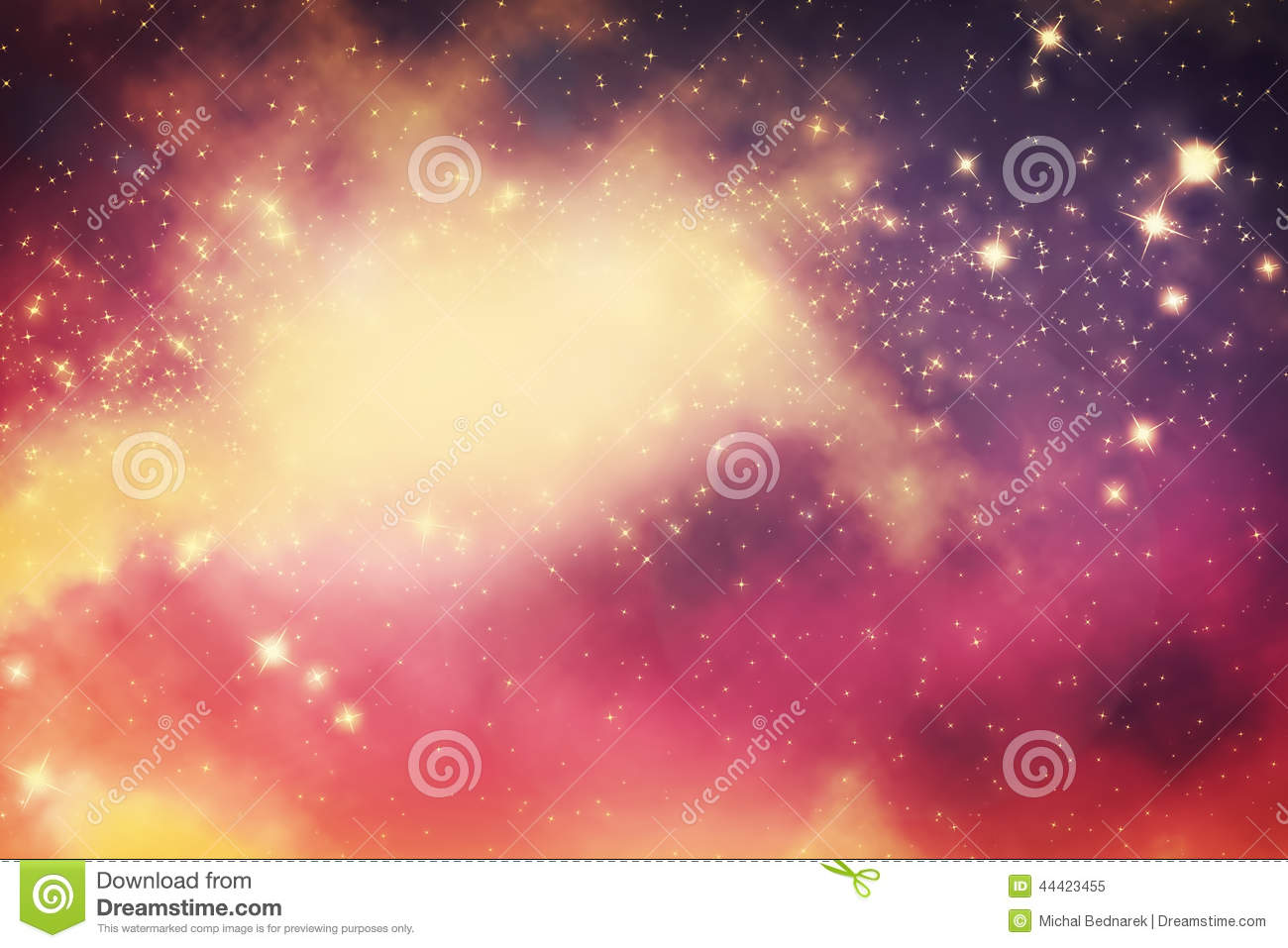 Galaxy with stars and fantasy universe space.