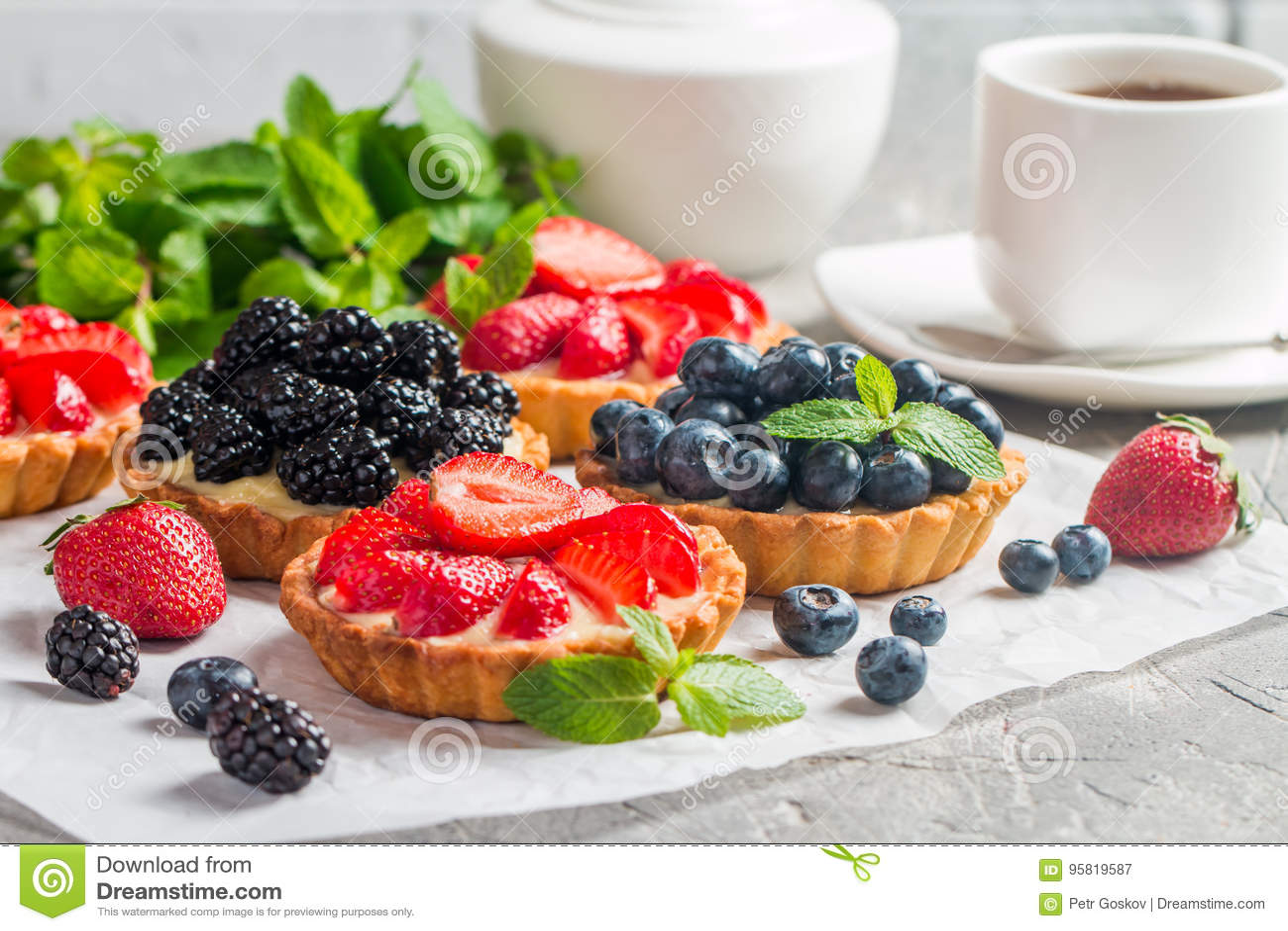Galdérias caseiros frescas do berrie