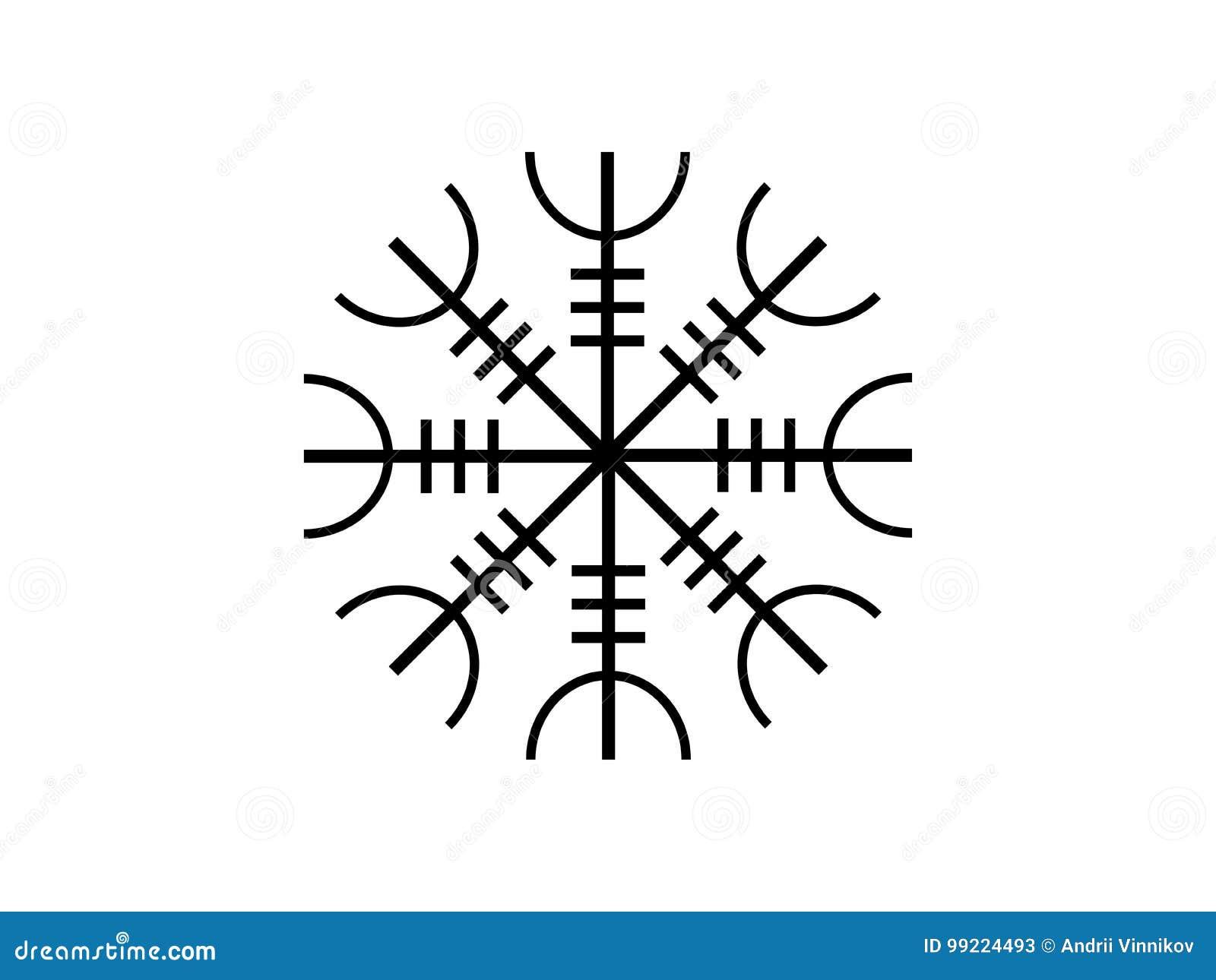 Galdrastafir Icelandic Symbol Intertwined Runes Vector Stock