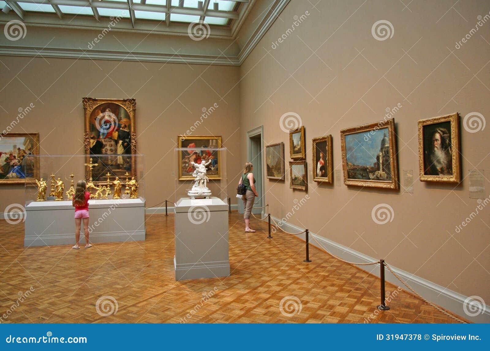 Galeria de arte com antigos mestres