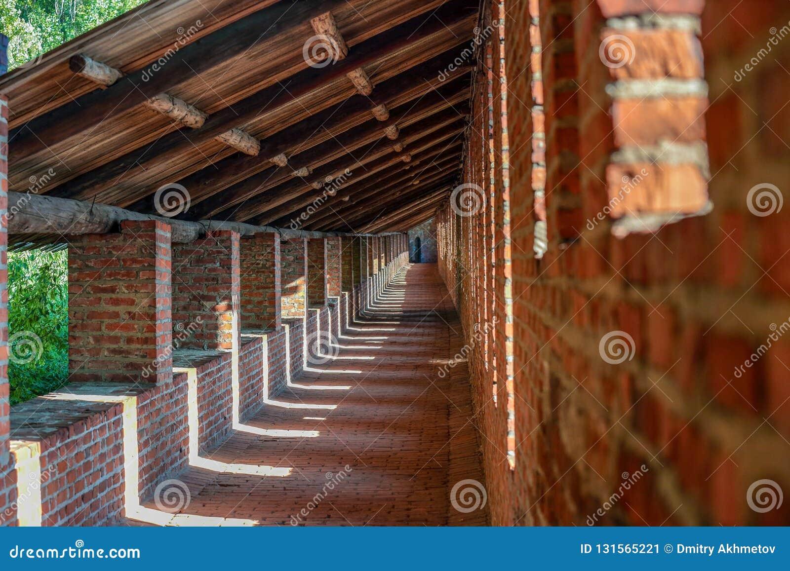 Galeria dentro de uma parede da fortaleza