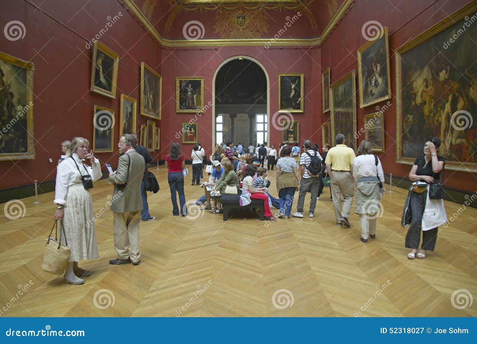 Galeria europeia no museu do Louvre, Paris, França