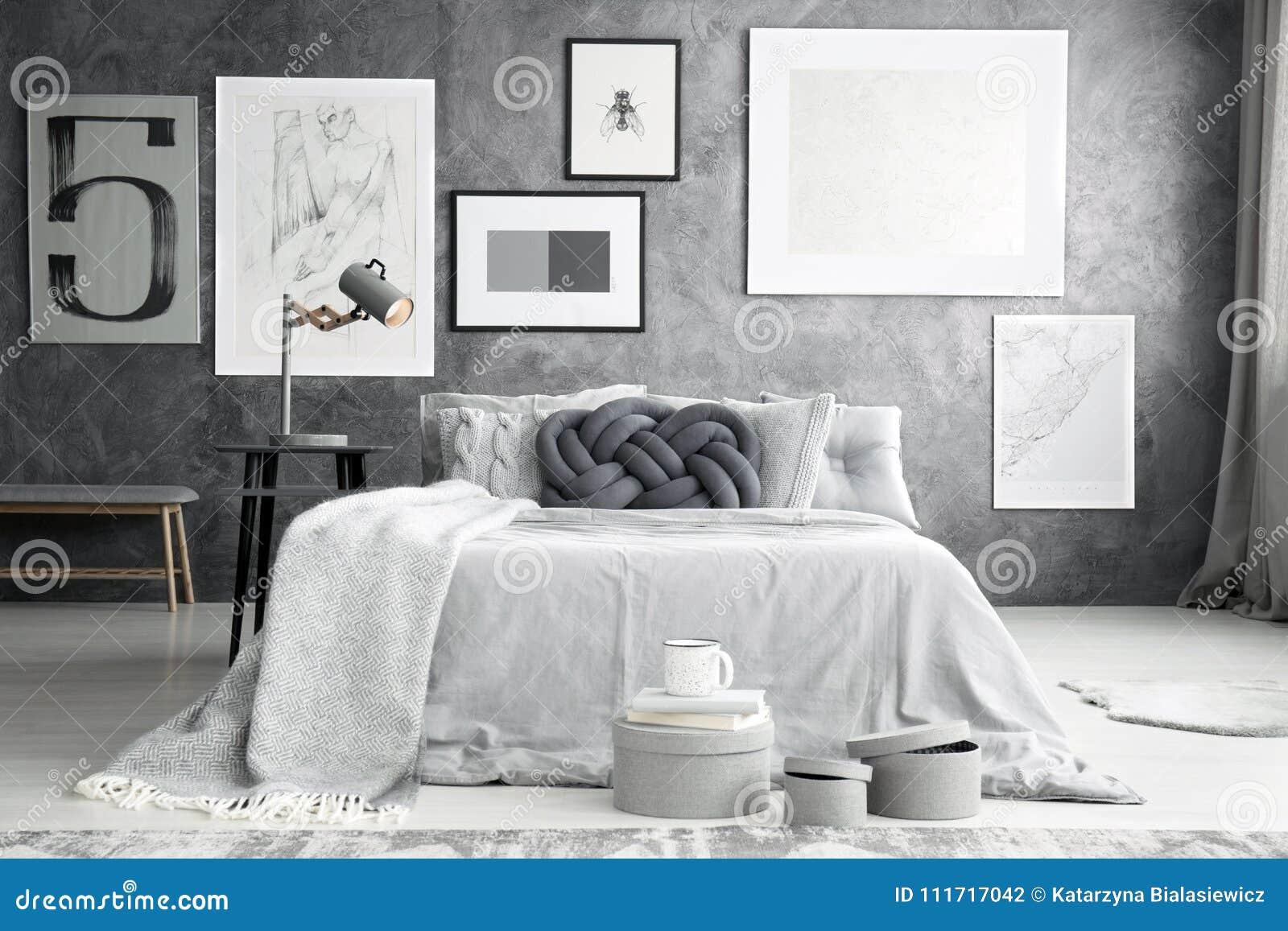 Galeria W Sypialni Wnętrzu Zdjęcie Stock Obraz Złożonej Z