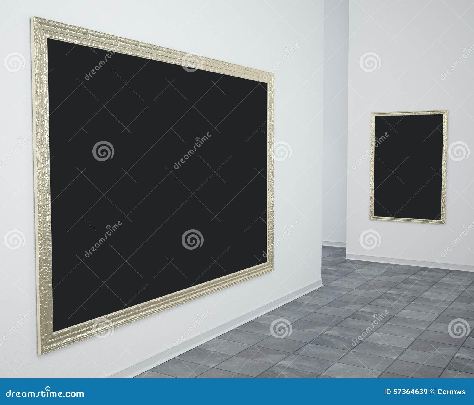 Galerie-Bilderrahmen stockbild. Bild von bild, golden - 57364639