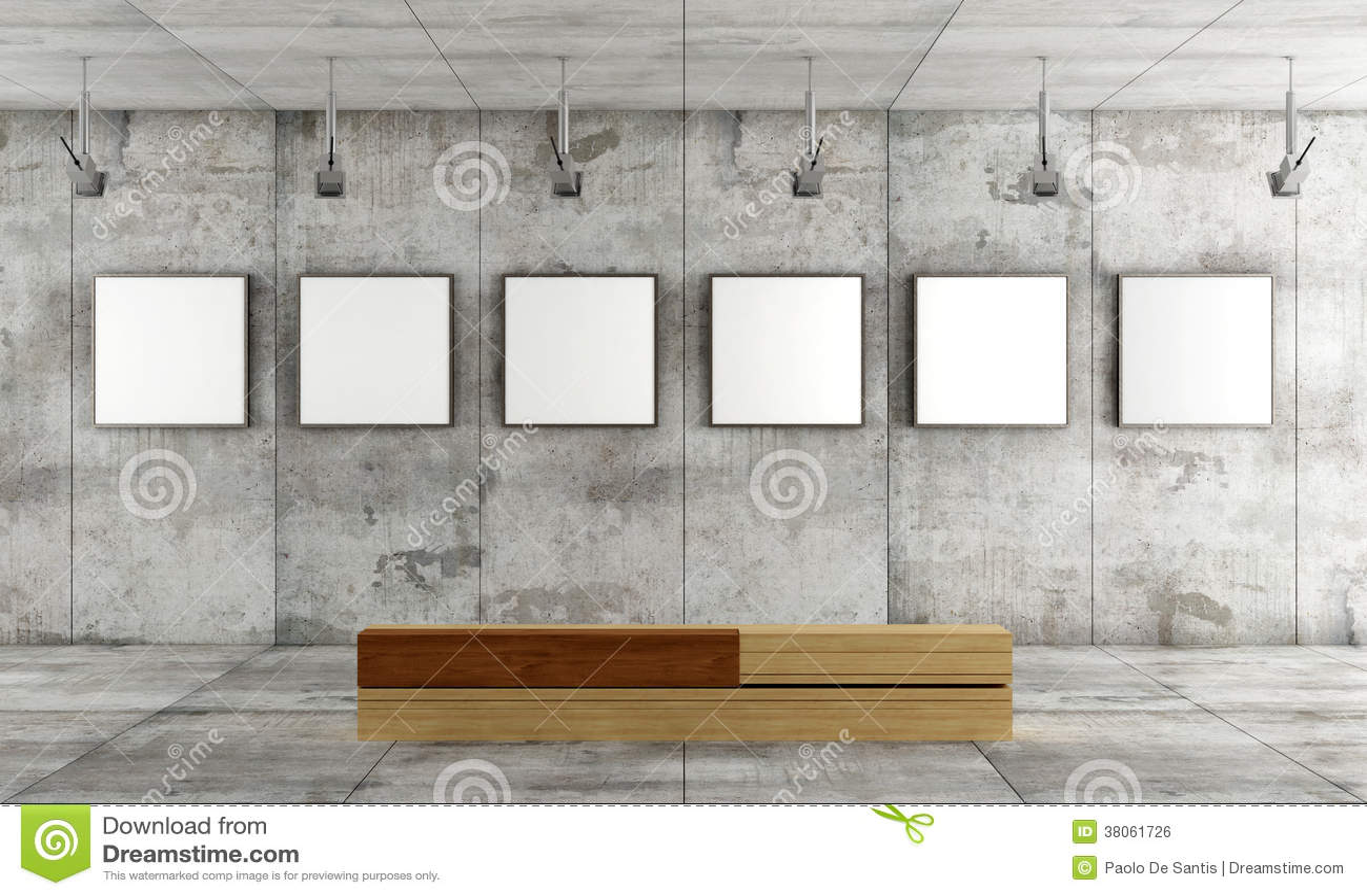 galerie d 39 art contemporain illustration stock illustration du blanc 38061726. Black Bedroom Furniture Sets. Home Design Ideas