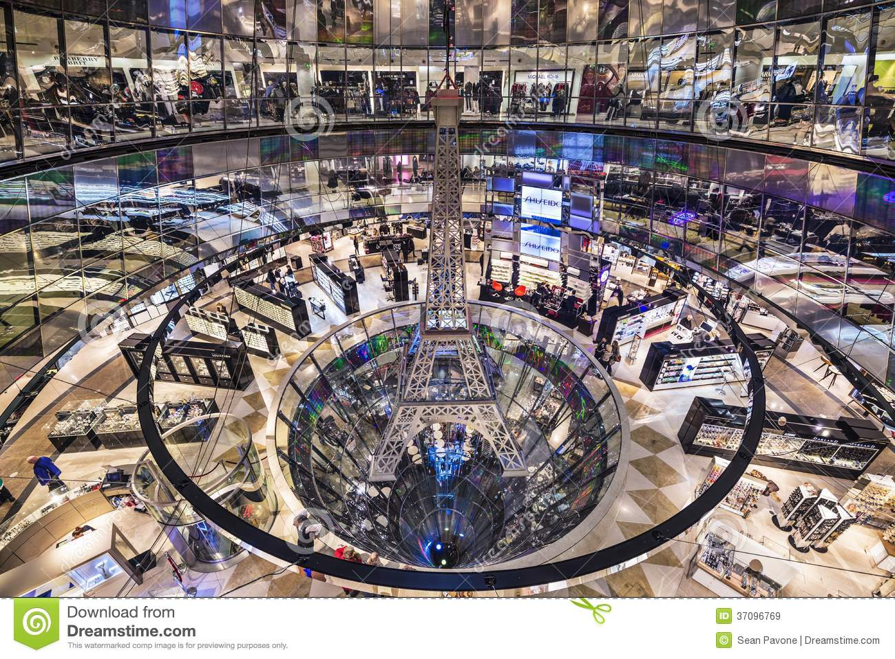 Galeries Lafayette Editorial Stock Image Image Of Famous 37096769