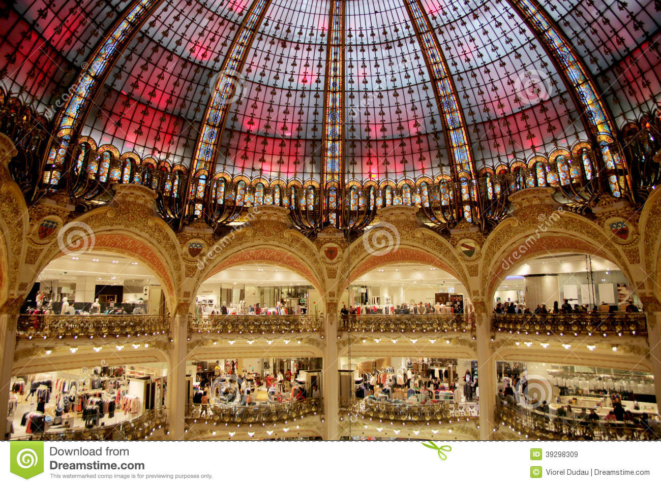 Galeries Lafayette Dome Editorial Stock Image Image