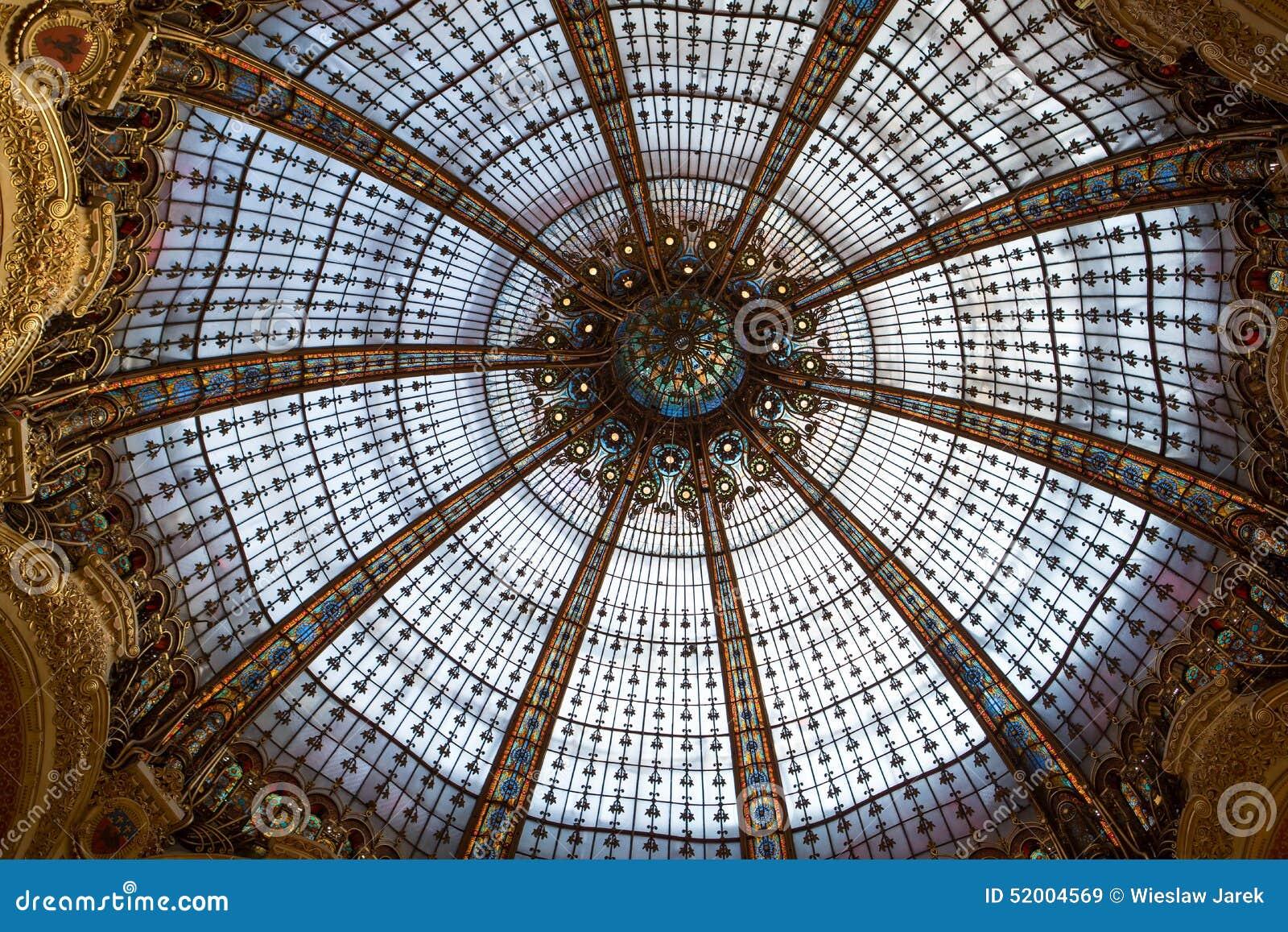 Galeries lafayette interior in paris editorial stock image image 52004569 for Interior designers lafayette la