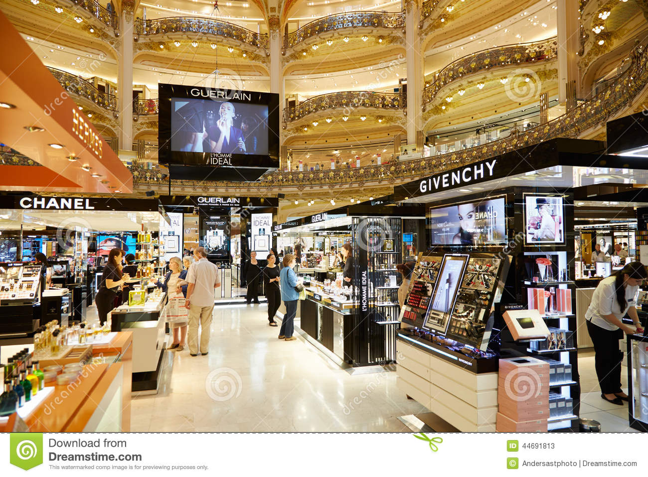 Galeries Lafayette Interior In Paris Editorial Stock Photo