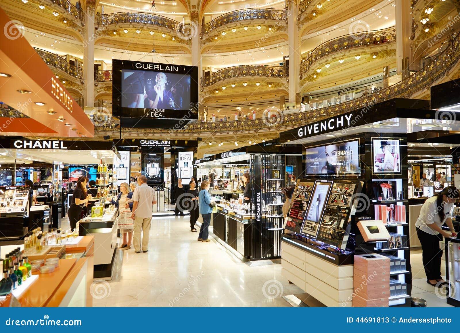Galeries lafayette interior in paris editorial stock photo image 44691813 - Comptoir des cotonniers paris stores ...