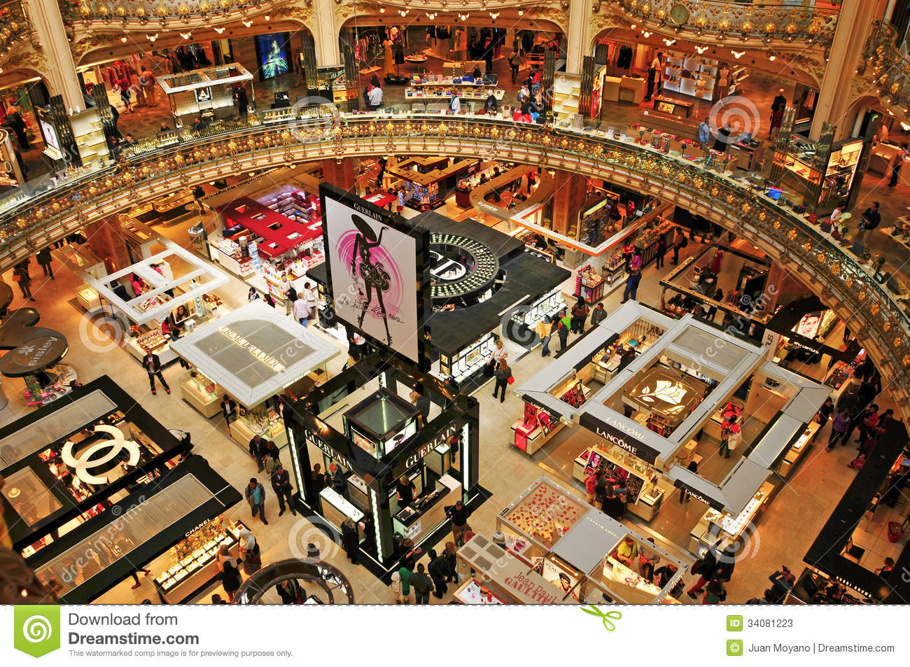 galeries lafayette in paris france editorial stock photo. Black Bedroom Furniture Sets. Home Design Ideas