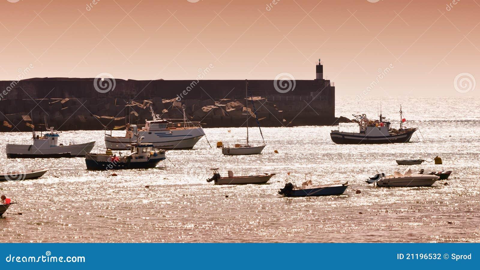Galicia fishing harbour