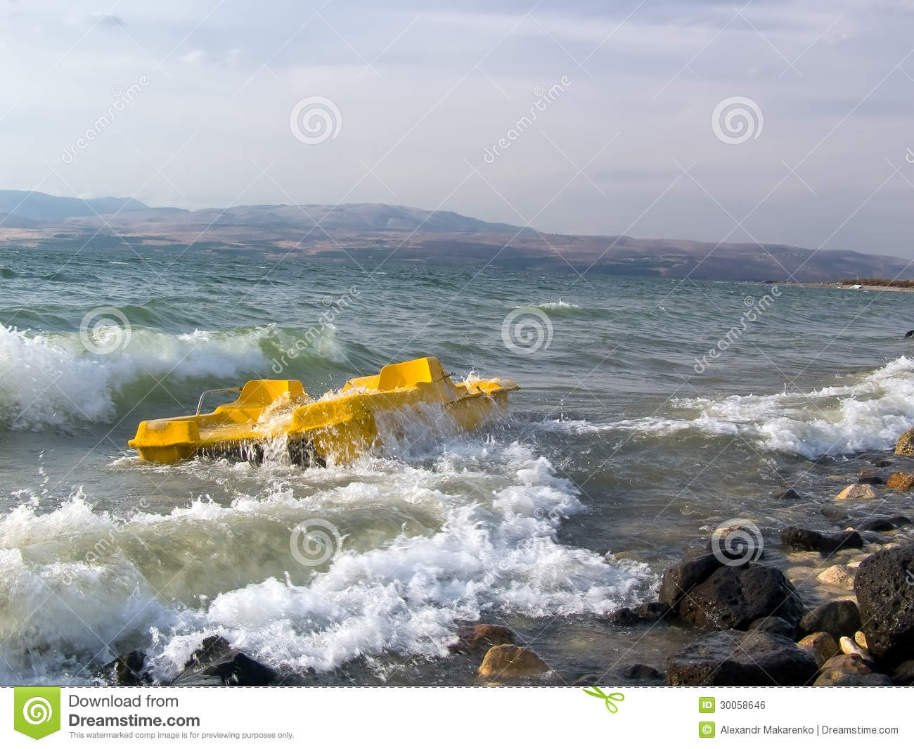 Storm on the sea of galilee israel stock photo image of storm on the sea of galilee israel publicscrutiny Images