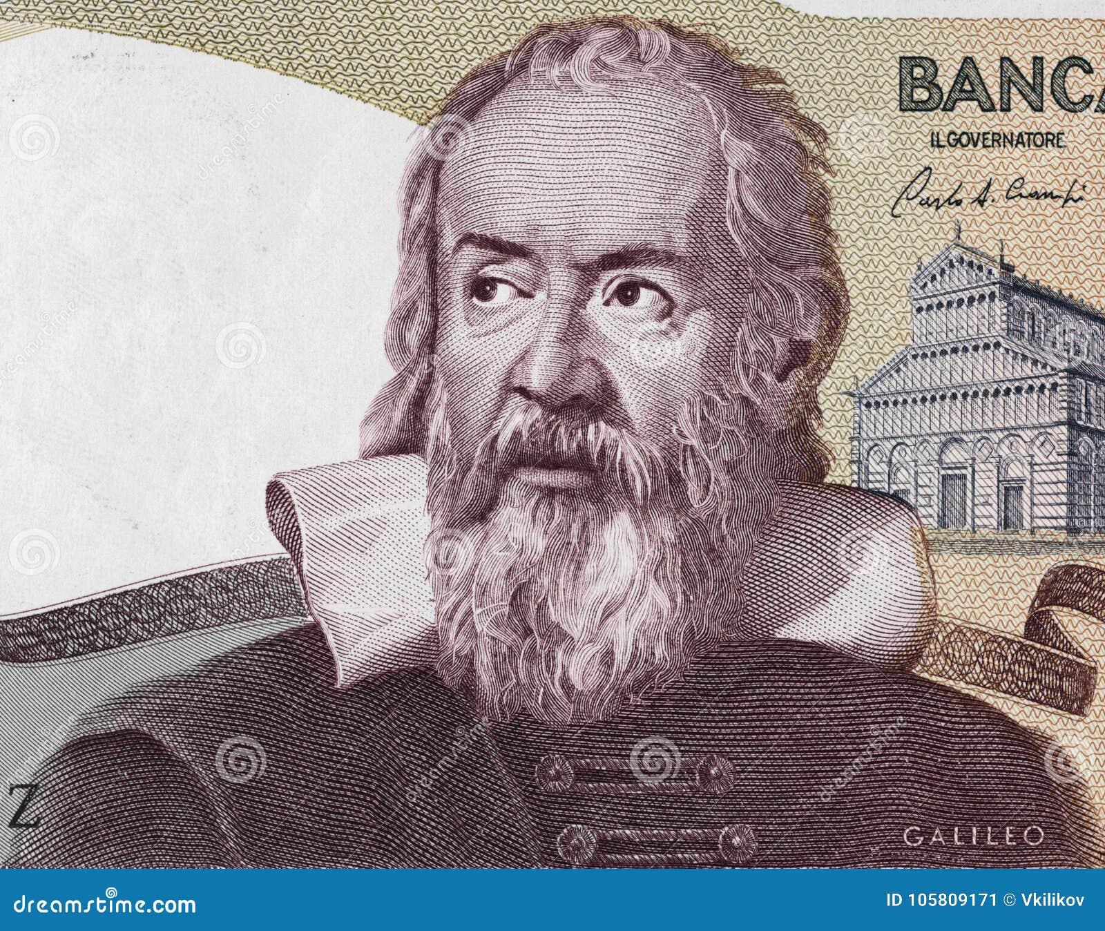 Galileo Galilei portret na Włochy 2000 lira banknotu 1983 clos