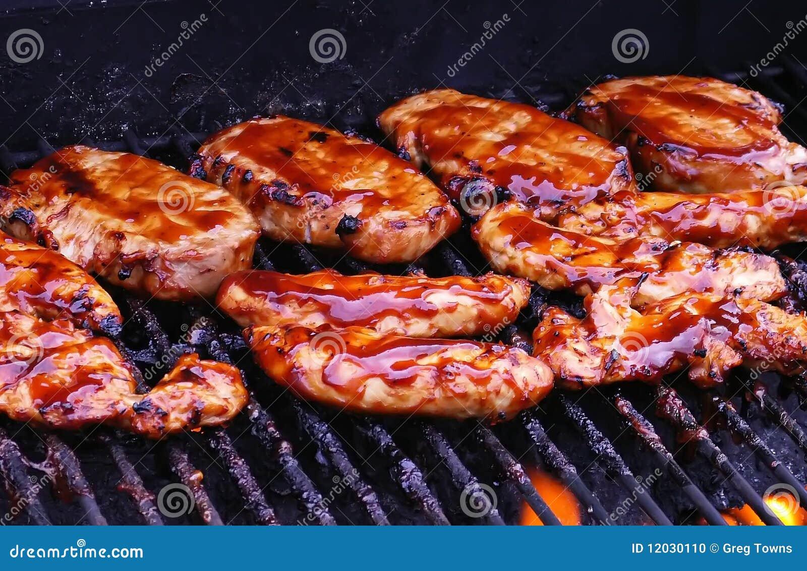 Galinha do BBQ na grade