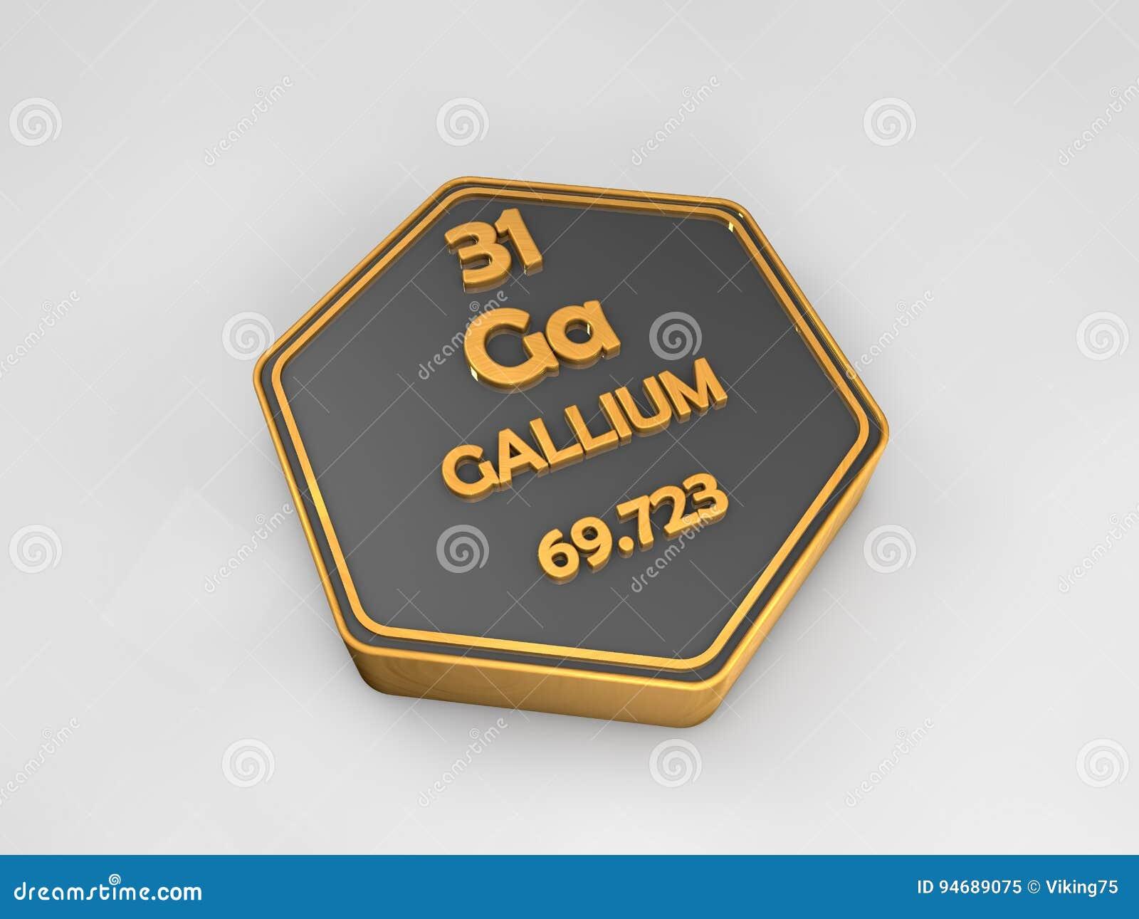 Galio ga forma hexagonal de la tabla peridica del elemento download galio ga forma hexagonal de la tabla peridica del elemento qumico stock de urtaz Choice Image