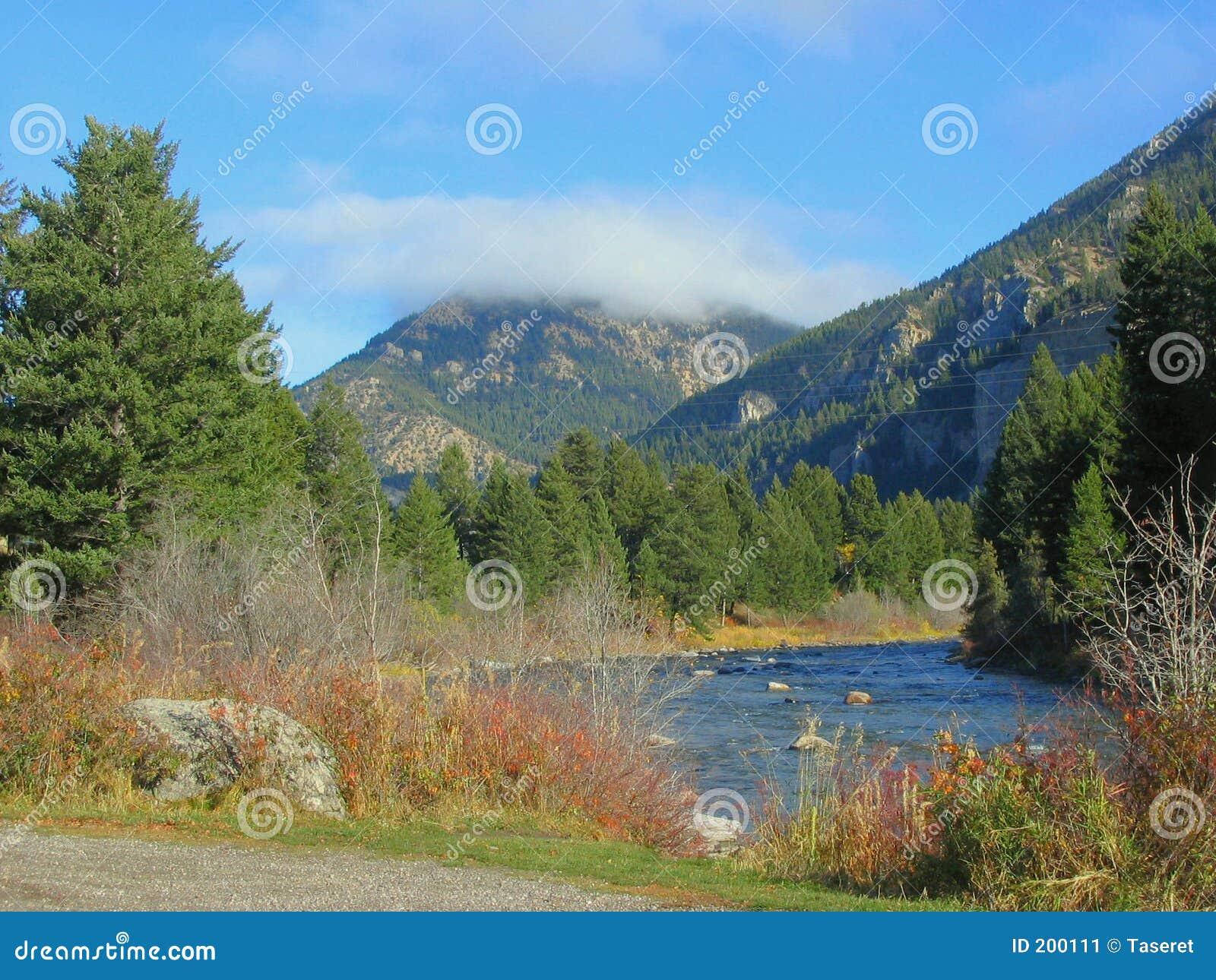 Gallatin jesienią rzeki