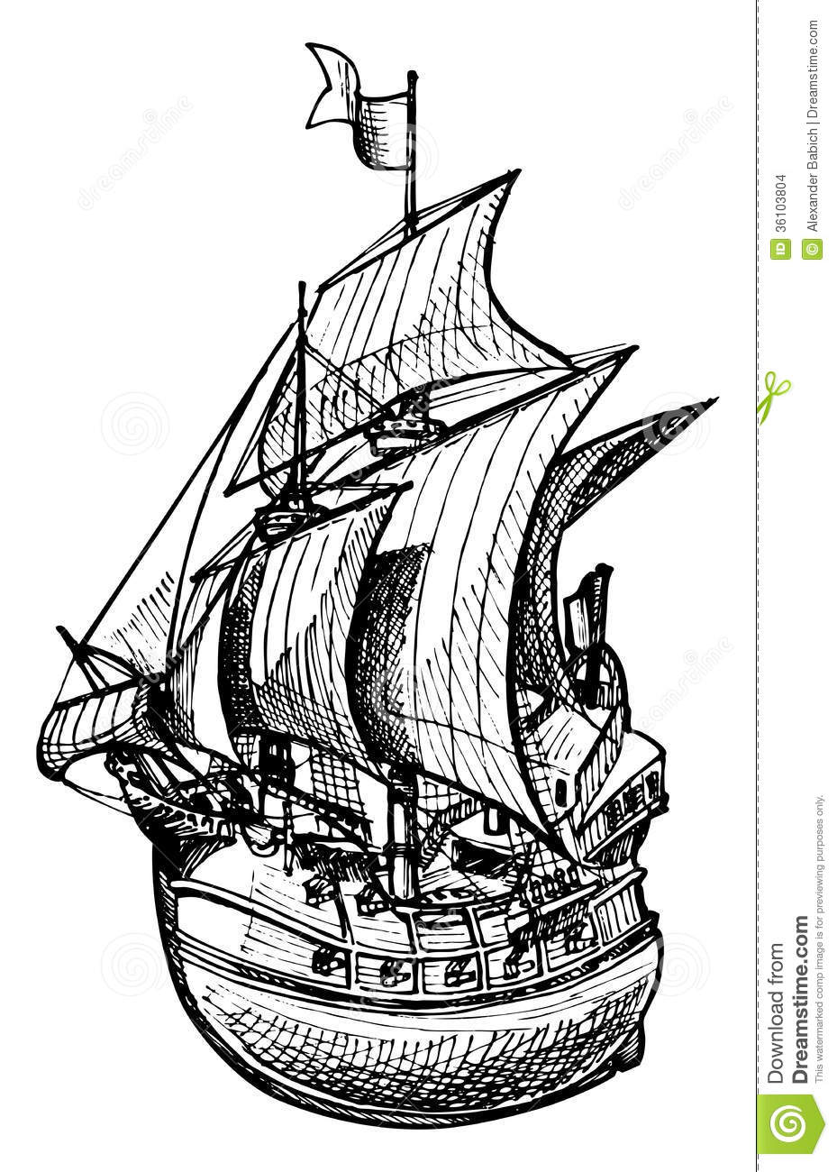 Galleon Stock Images - Image: 36103804
